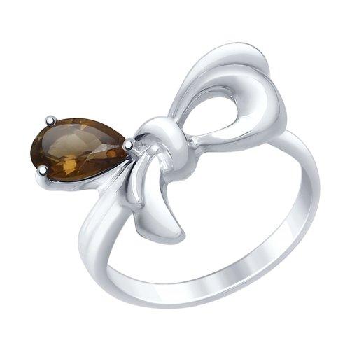 Серебряное кольцо с раухтопазами ДИ92011437