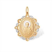 Золотая иконка с фианитами ЮПП1329544