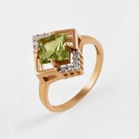 Золотое кольцо с ситалом и фианитами 2БКЗ5К.1-14.98-0311-01