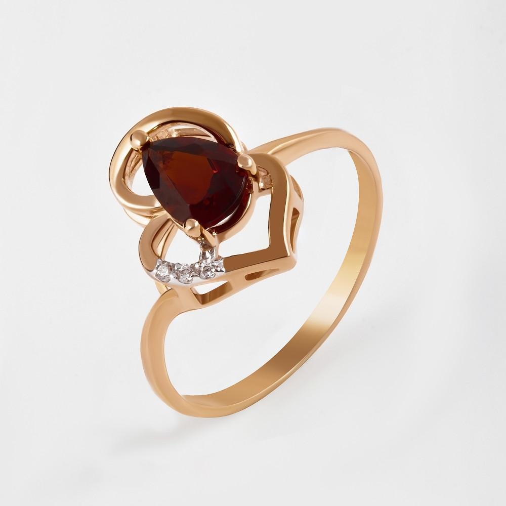 Золотое кольцо с ситалом и фианитами 2БКЗ5К.1-14.96-0414-01