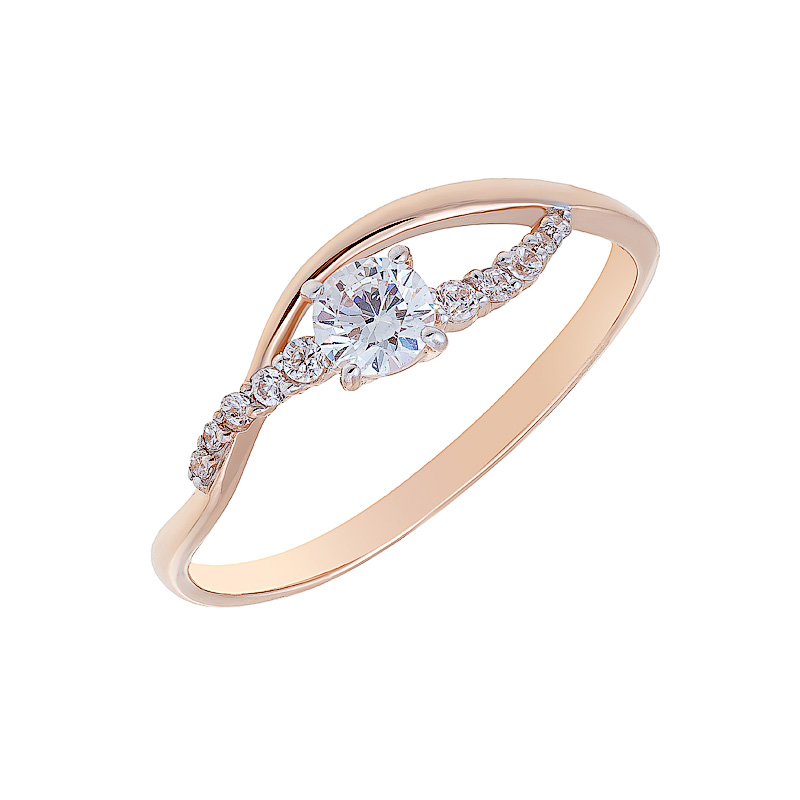 Золотое кольцо с фианитами ЮИК132-2750