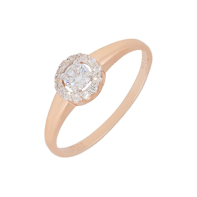 Золотое кольцо с фианитами ЮИК132-2471