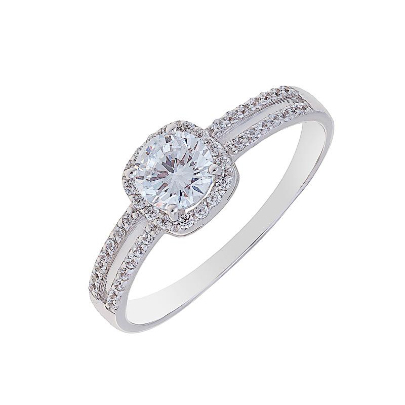 Золотое кольцо с фианитами ЮИК230-2703
