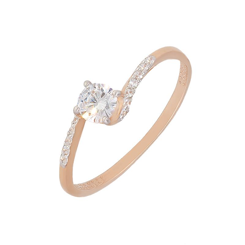 Золотое кольцо с фианитами ЮИК132-2497