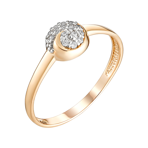 Золотое кольцо с фианитами ЮИК132-4732