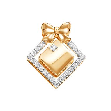 Золотая подвеска с фианитами ЮИП132-4375