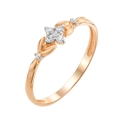 Золотое кольцо с фианитами ЮИК132-3036