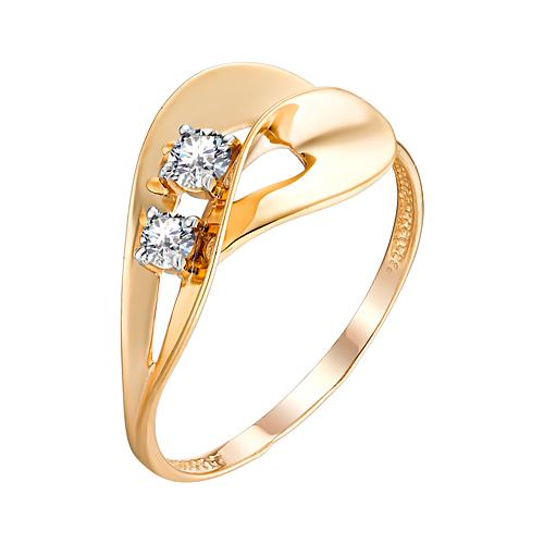 Золотое кольцо с фианитом ЮИК132-4730