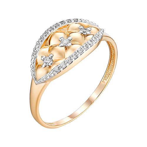 Золотое кольцо с фианитами ЮИК132-4707