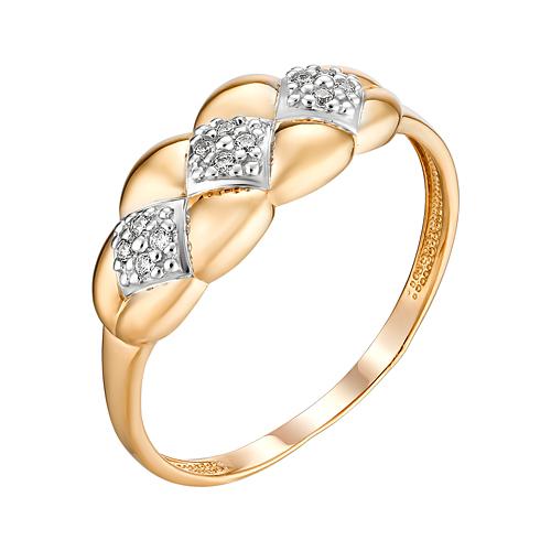 Золотое кольцо с фианитами ЮИК132-4708