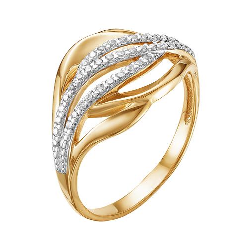 Золотое кольцо с фианитами ЮИК132-4101