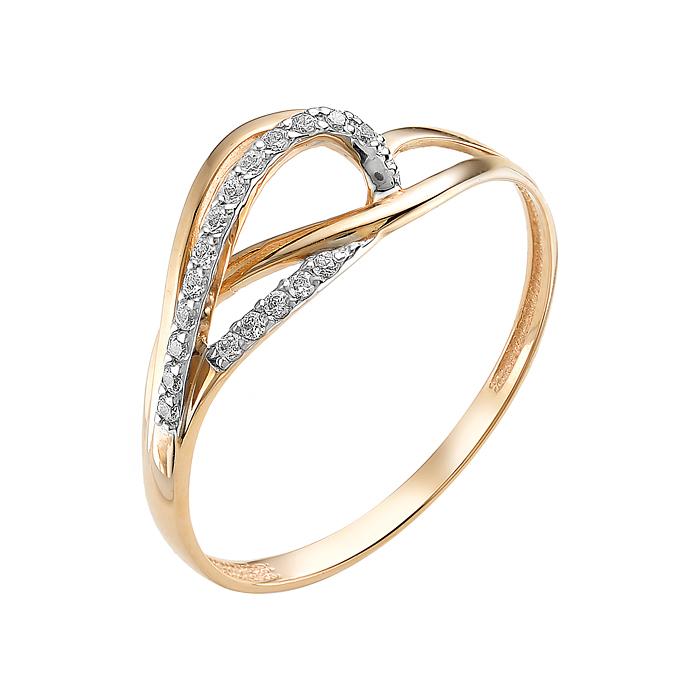 Золотое кольцо с фианитами ЮИК132-2498