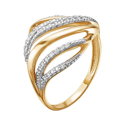 Золотое кольцо с фианитами ЮИК132-4092