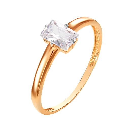 Золотое кольцо с фианитами ЮИК132-4756