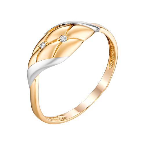 Золотое кольцо с фианитами ЮИК132-4705
