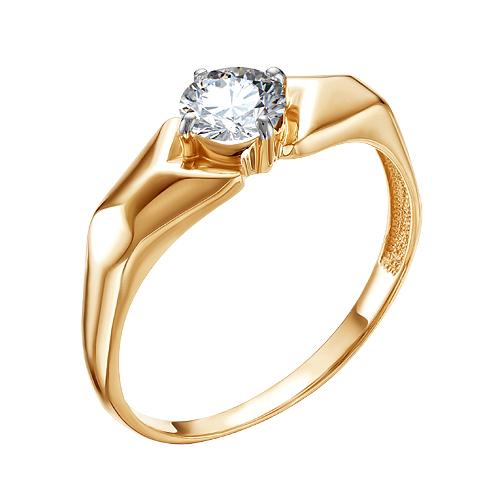 Золотое кольцо с сваровски ЮИК132-4250Св