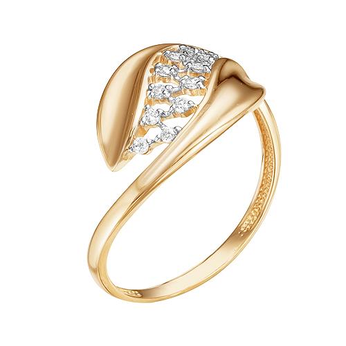 Золотое кольцо с фианитами ЮИК132-4519