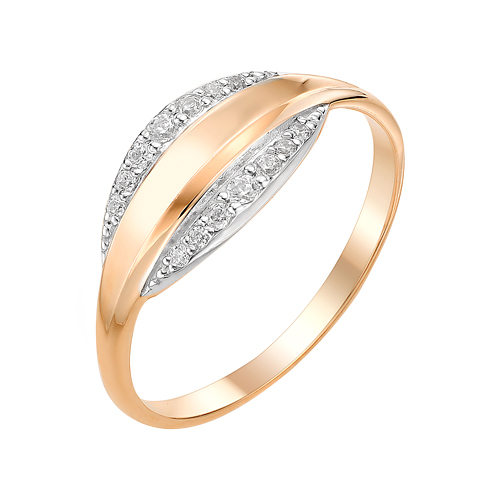 Золотое кольцо с фианитами ЮИК132-3010