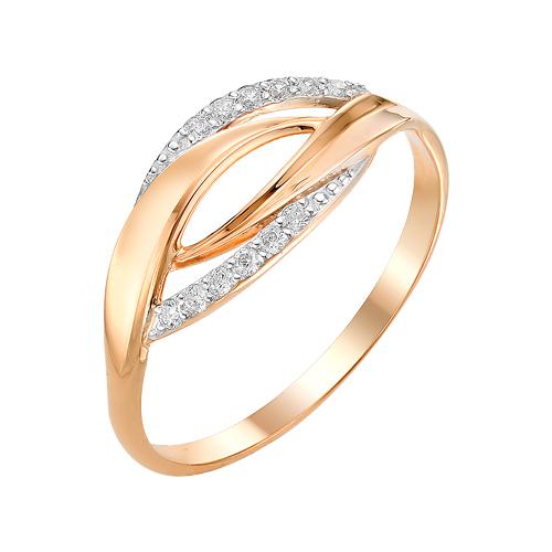 Золотое кольцо с фианитами ЮИК132-3009