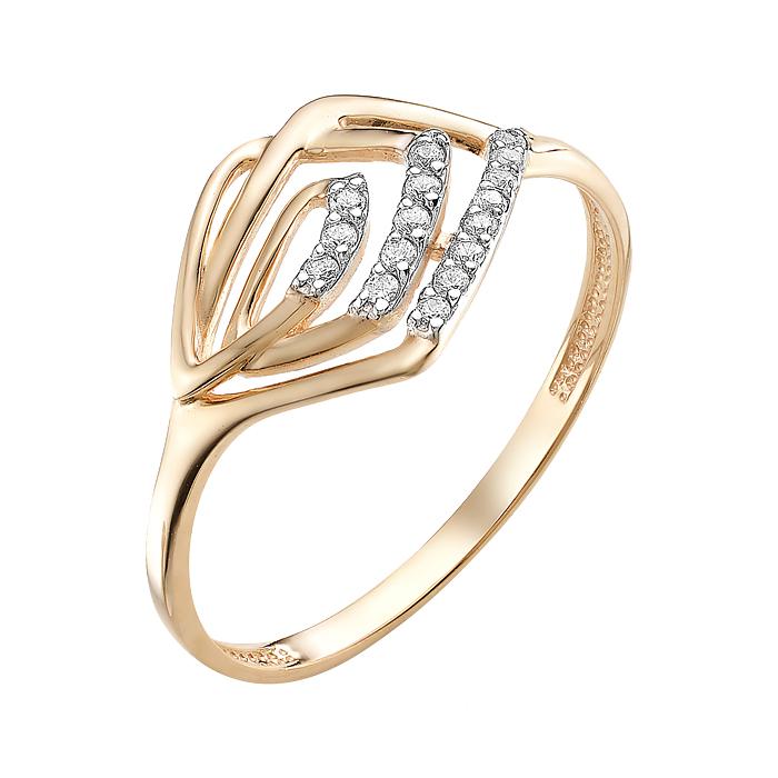 Золотое кольцо с фианитами ЮИК132-2514