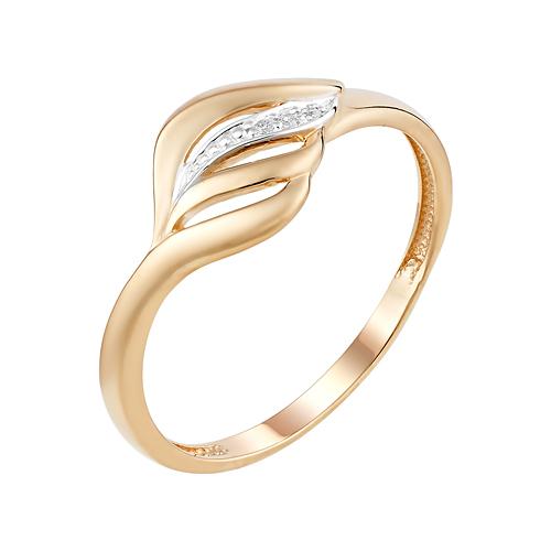 Золотое кольцо с фианитами ЮИК132-4576