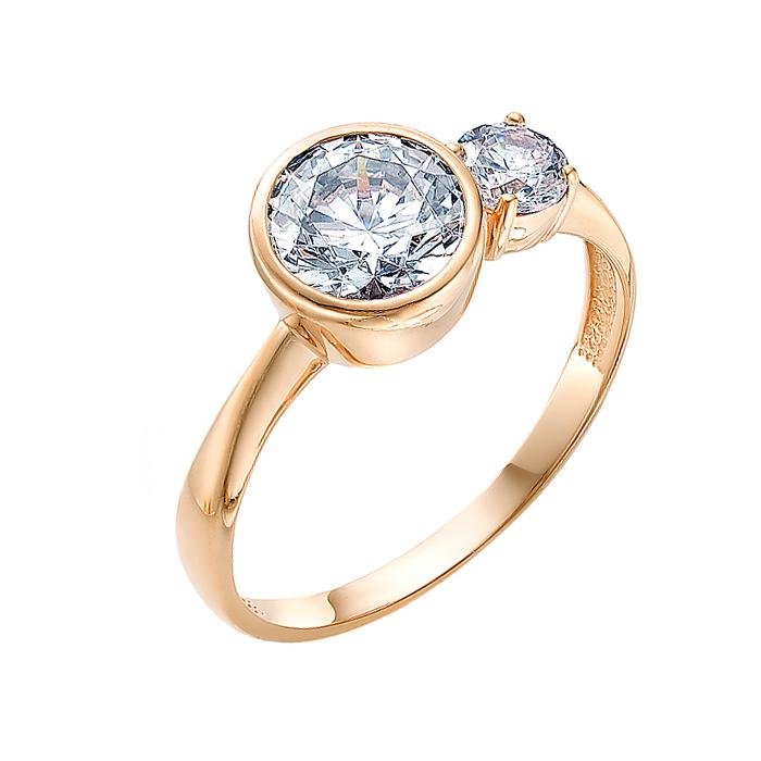 Золотое кольцо с сваровски ЮИК130-2942Св