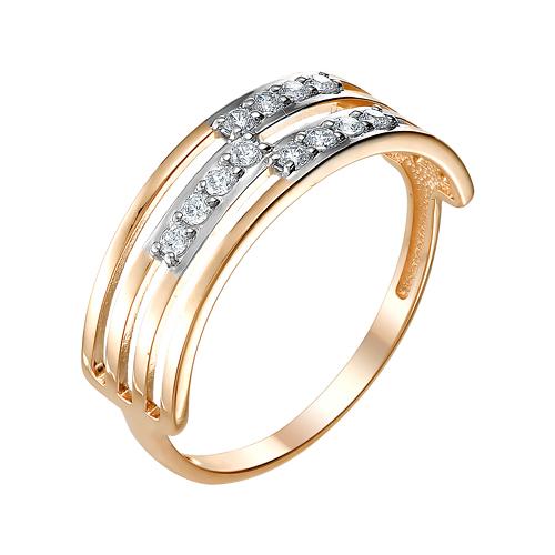 Золотое кольцо с фианитами ЮИК132-3490
