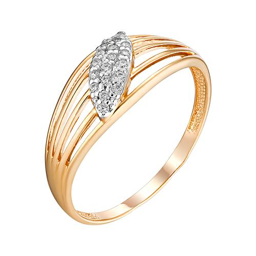Золотое кольцо с фианитами ЮИК132-4742
