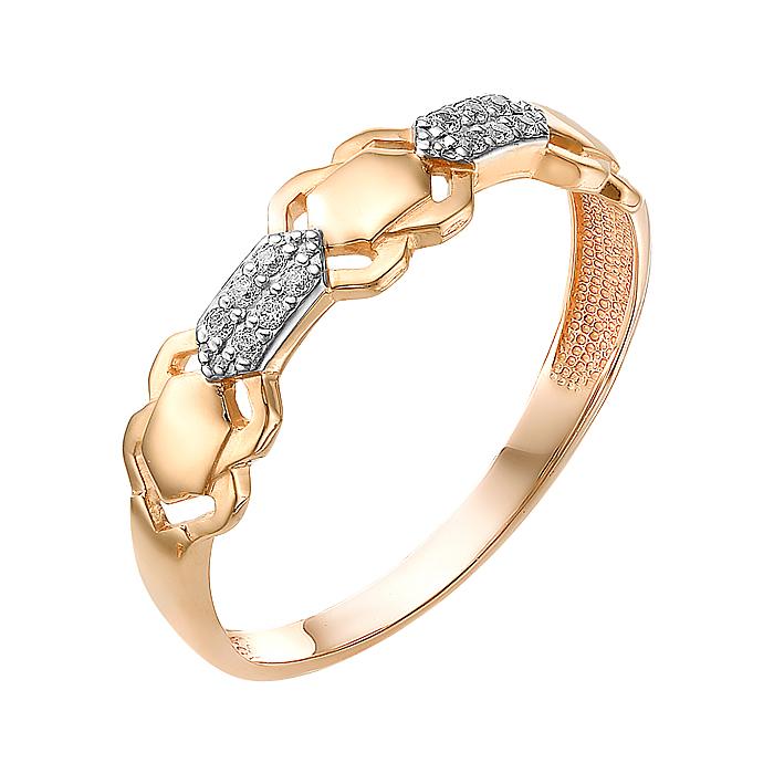 Золотое кольцо с фианитами ЮИК132-3051