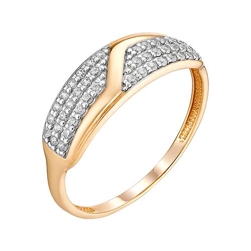 Золотое кольцо с фианитами ЮИК132-4738