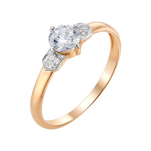 Золотое кольцо с фианитами ЮИК132-3000