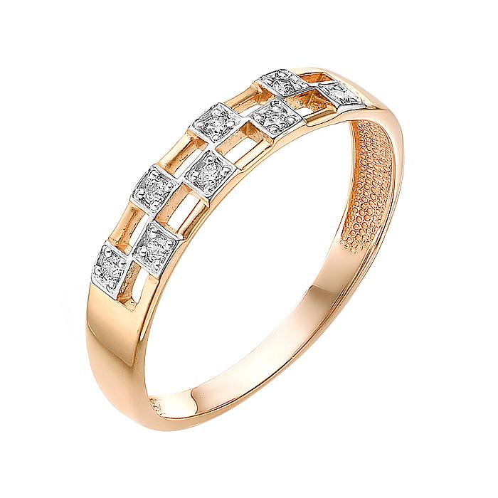 Золотое кольцо с фианитами ЮИК132-3052