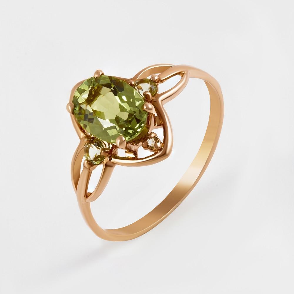 Золотое кольцо с ситалом 2БКЗ5К-14.98-0360-03