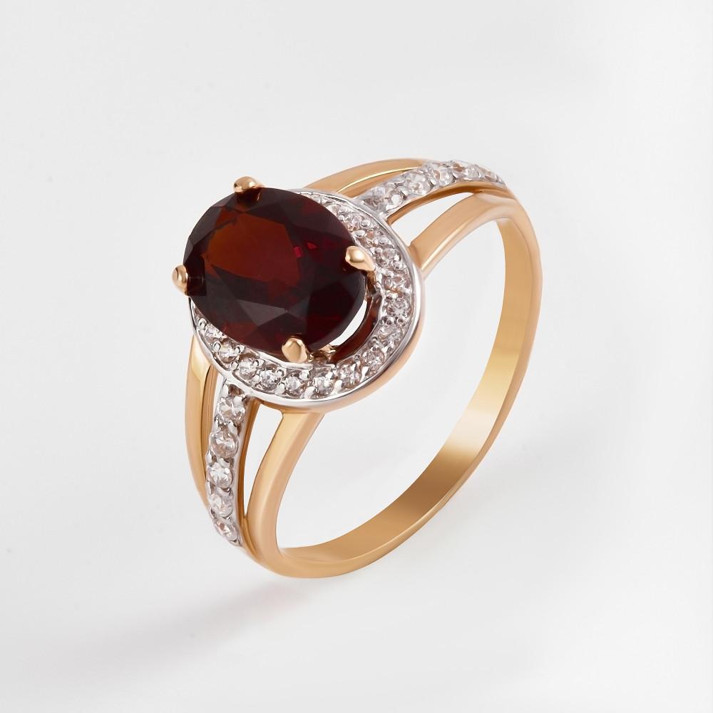 Золотое кольцо с ситалом и фианитами 2БКЗ5К.1-14.96-0364-01