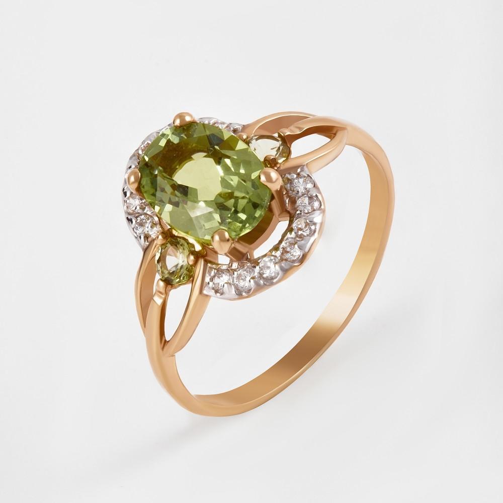 Золотое кольцо с ситалом и фианитами 2БКЗ5К.1-14.98-0359-03