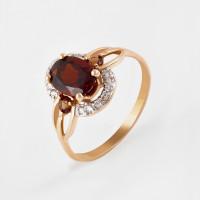 Золотое кольцо с ситалом и фианитами 2БКЗ5К.1-14.96-0359-02