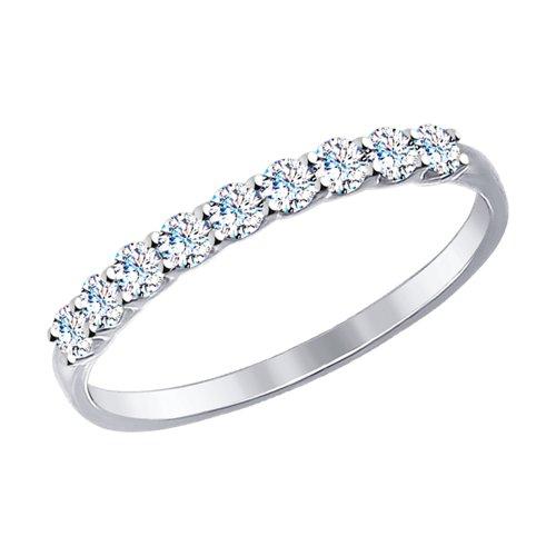 Золотое кольцо с фианитами ДИ017456