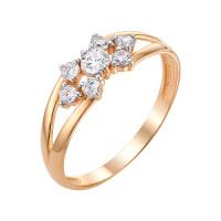 Золотое кольцо с фианитами ЮИК132-3029
