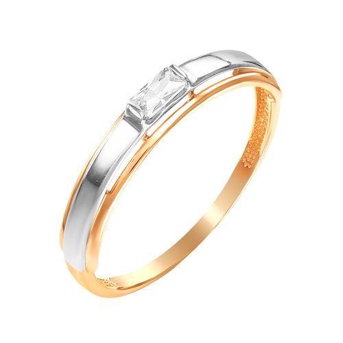 Золотое кольцо с фианитами ЮИК132-4754