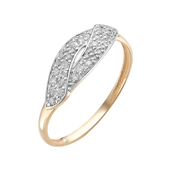 Золотое кольцо с фианитами ЮИК132-2783