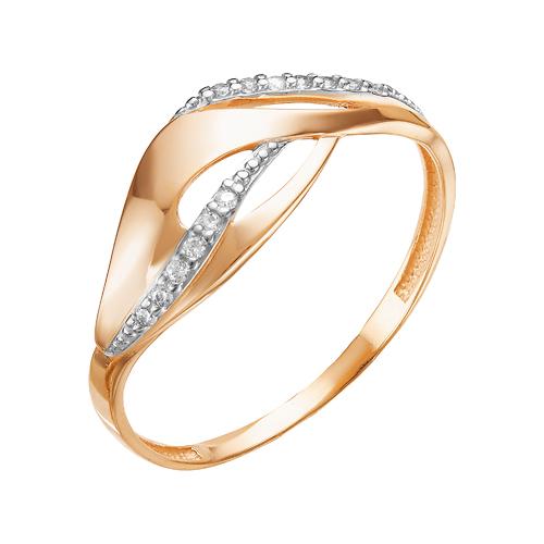 Золотое кольцо с фианитами ЮИК132-4992