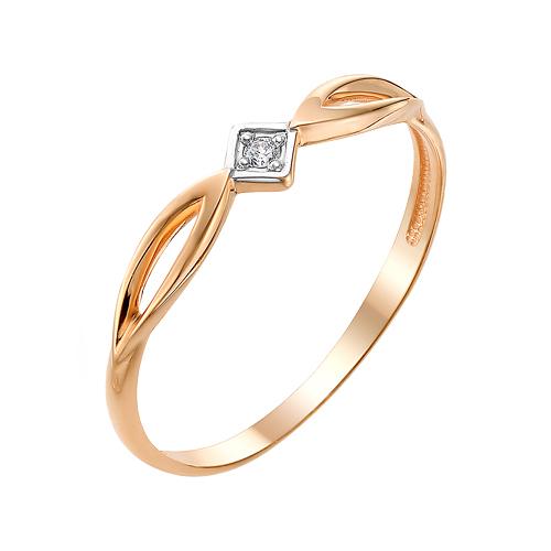 Золотое кольцо с фианитами ЮИК132-3035