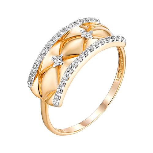 Золотое кольцо с фианитами ЮИК132-4710