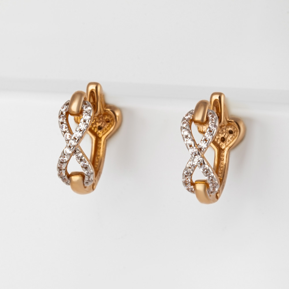 Золотые серьги с фианитами СН01-215321