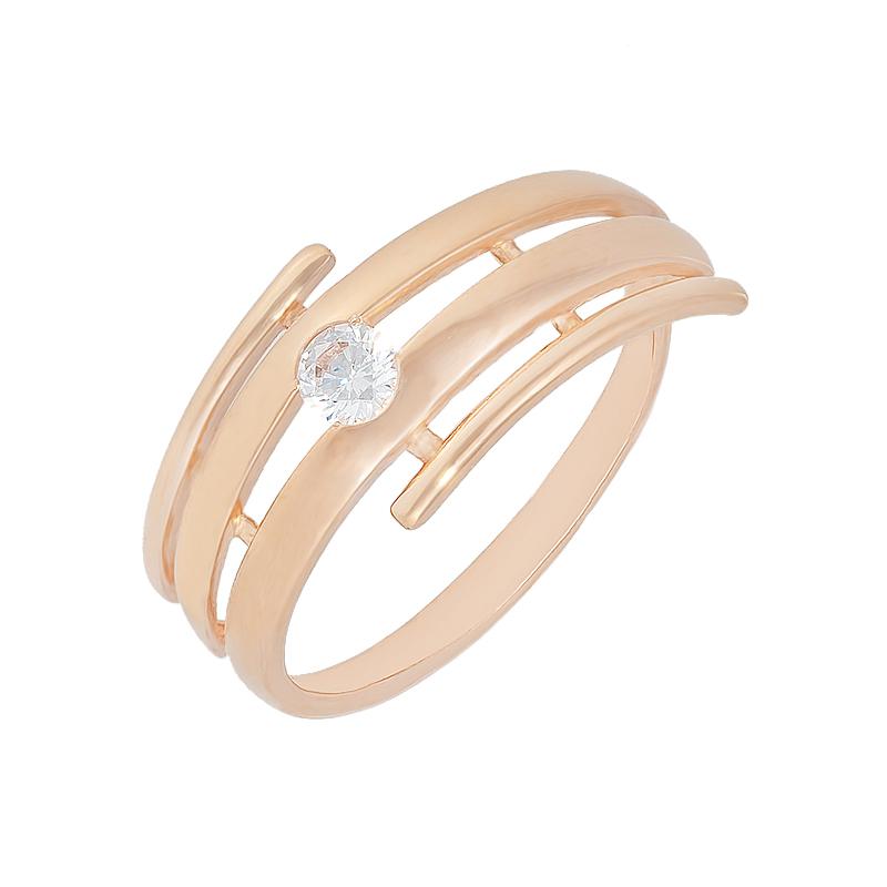 Золотое кольцо с фианитами СН01-114680