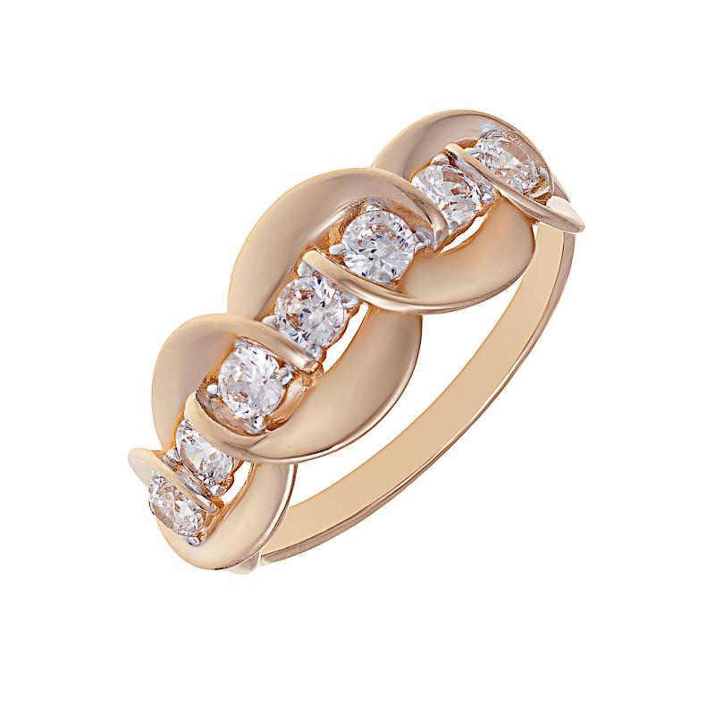 Золотое кольцо с фианитами СН01-114682