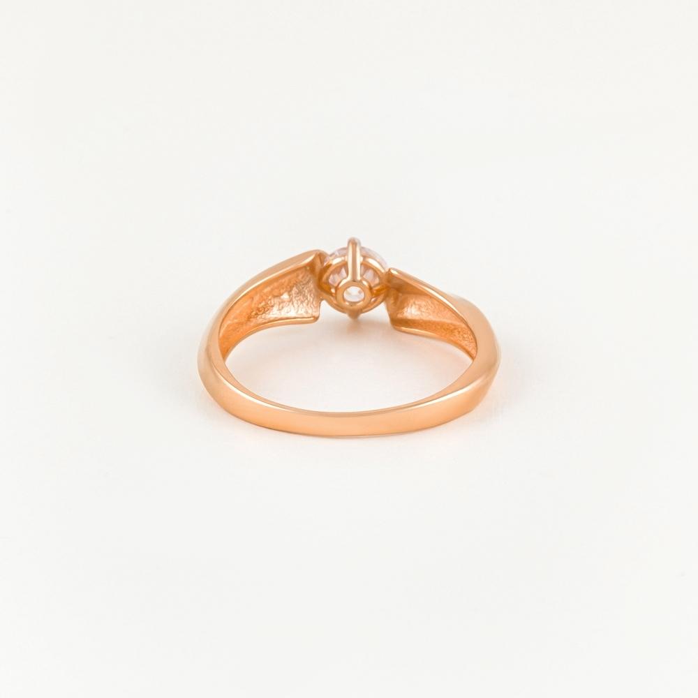 Золотое кольцо с фианитами СН01-114799