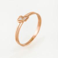 Золотое кольцо с фианитами СН01-114834