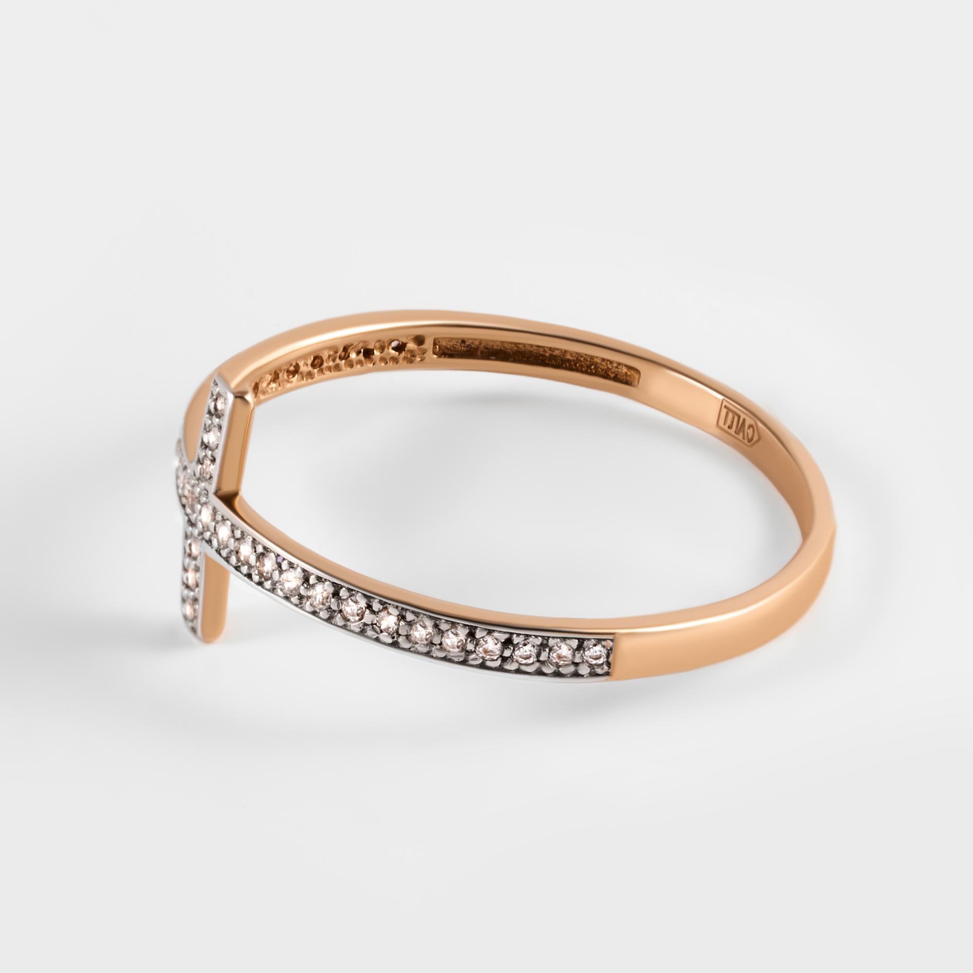 Золотое кольцо с фианитами СН01-114838
