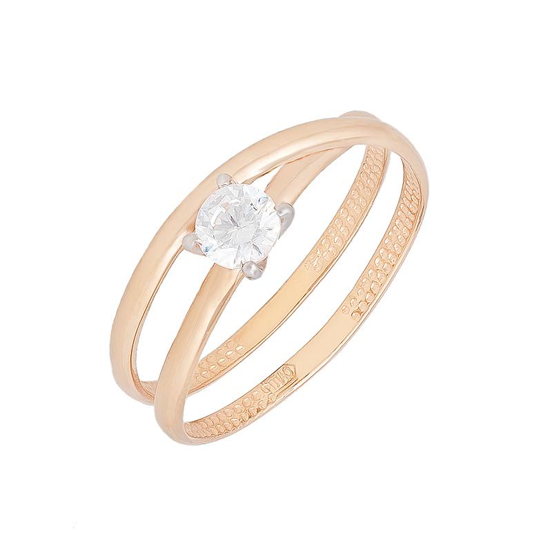 Золотое кольцо с фианитами СН01-114843